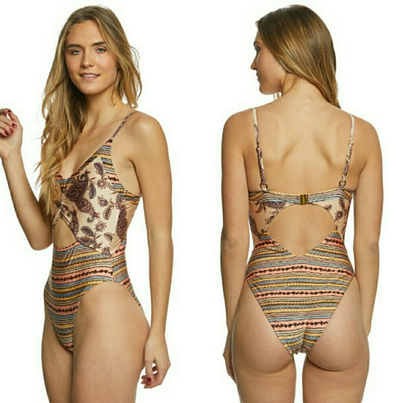 cf18074452 MINKPINK Swim | Aria Splice One Piece Multi Color Suit | Poshmark